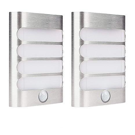 Leadleds inteligente sensor de movimiento – lámpara de pared (2 unidades), color blanco