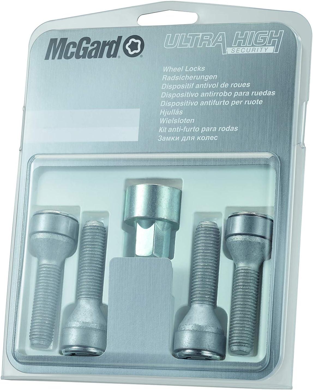 Tornillos antirrobo para ruedas McGard 27180 SL base c/ónica, M12 x 1,25, longitud del v/ástago 49,2 mm, SW19