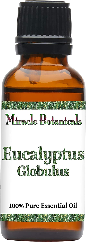 Miracle Botanicals Australian Eucalyptus Globulus Essential Oil - 100% Pure Eucalyptus Globulus - 10ml or 30ml Sizes - Therapeutic Grade - 30ml