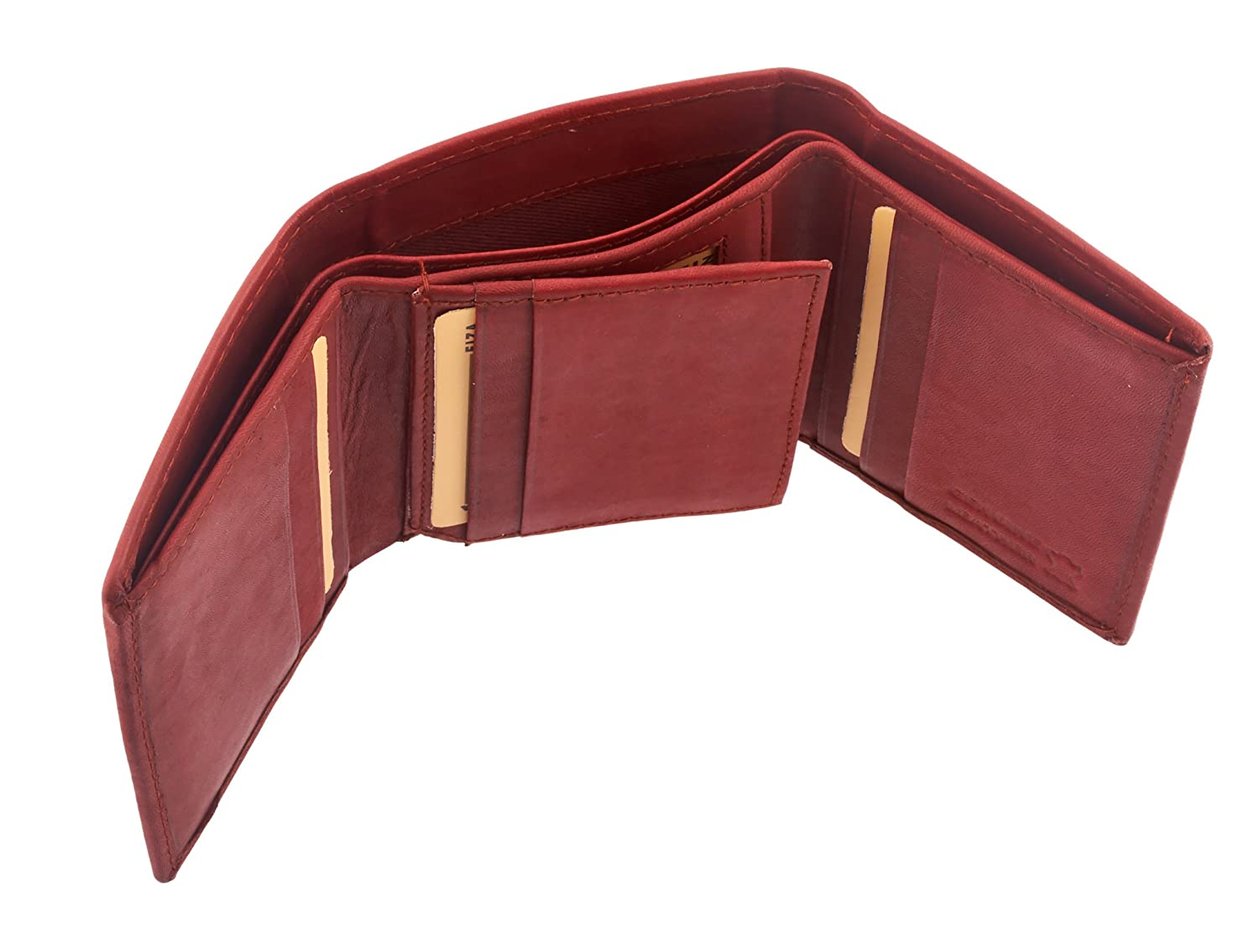 Available in Black or Brown FL-23 Genuine Leather Trifold Wallet