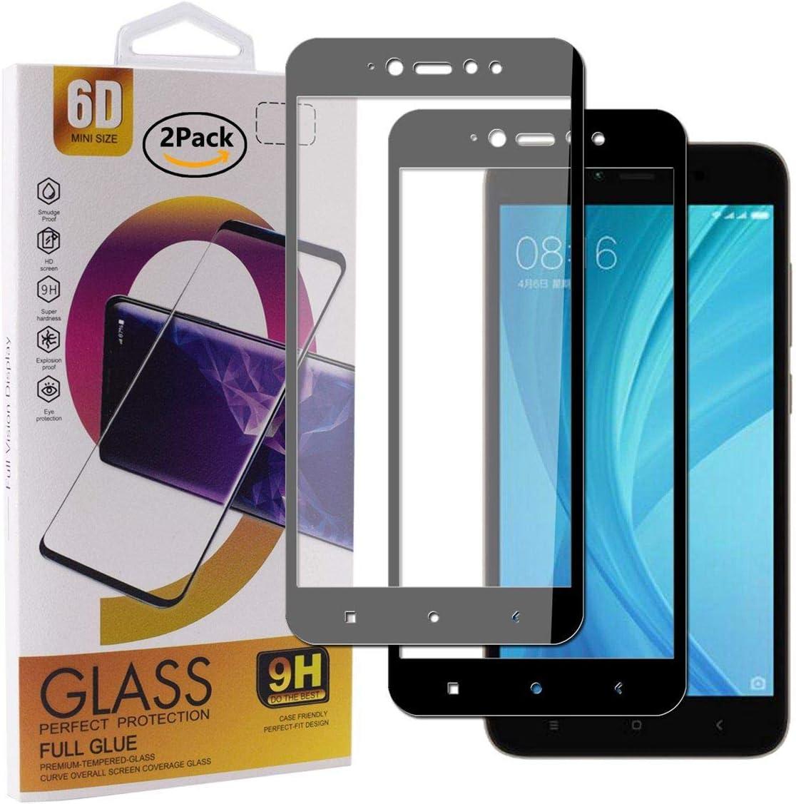 Guran [2 Paquete Protector de Pantalla para Xiaomi Redmi Note 5A Prime (Y1) Smartphone Cobertura Completa Protección 9H Dureza Alta Definicion Vidrio Templado Película: Amazon.es: Electrónica