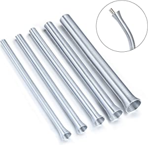 5 Pieces Spring Tube Benders 1/4, 5/16, 3/8, 1/2, 5/8 Inch Tube Bender Kit for Copper Aluminum Thin Wall Steel Tubing