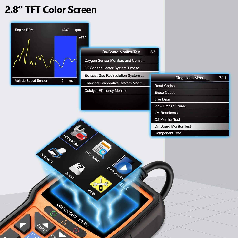 FOXWELL NT301 OBD2 Scanner Professional Enhanced OBDII Diagnostic Code  Reader Tool