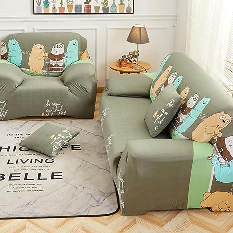 Amazon.com: Antideslizante elástico sofá cubierta funda para ...