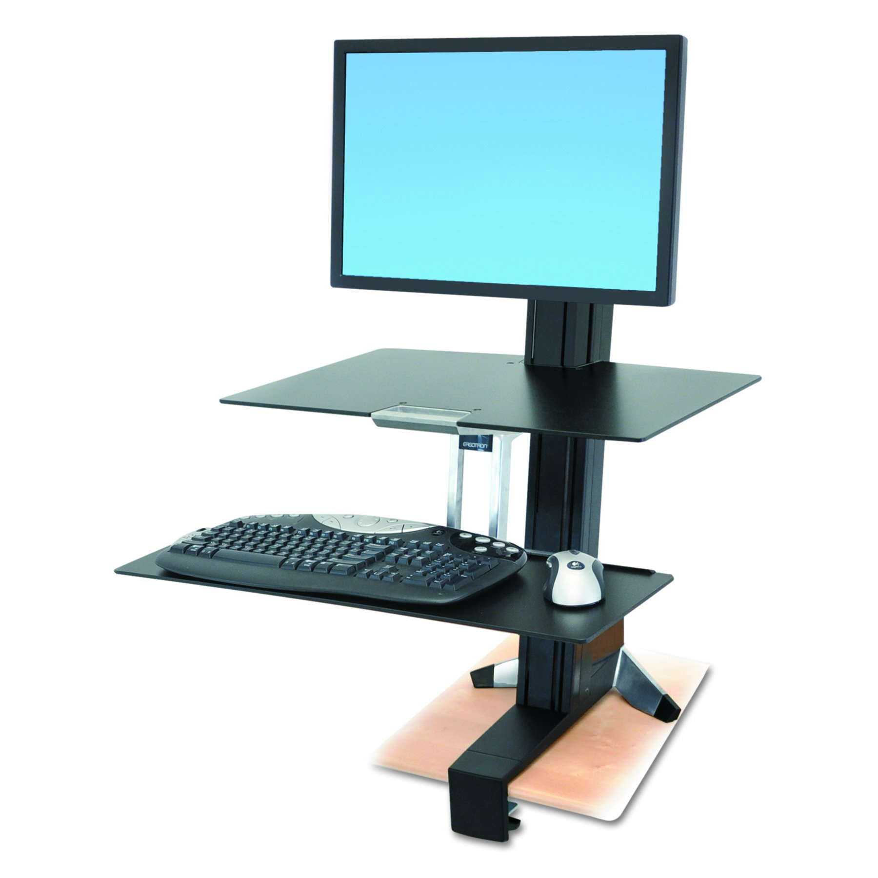 Ergotron WorkFit-S Single HD Workstation with Worksurface+ (33-351-200)