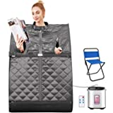 OppsDecor Portable Steam Sauna Spa, 2L Personal Therapeutic Sauna for Weight Loss Detox Relaxation at Home,One Person…