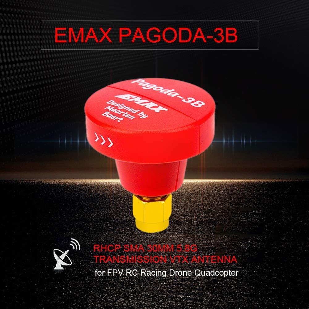 Goolsky EMAX Pagoda-3B RHCP SMA 30mm 5.8G Transmisión FPV Antena VTX para FPV RC Racing Drone Quadcopter