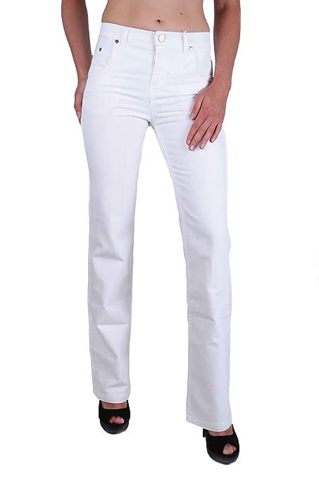 Details zu Versace VJC Damen Jeans Hose VRegolare Weiß W27 W32