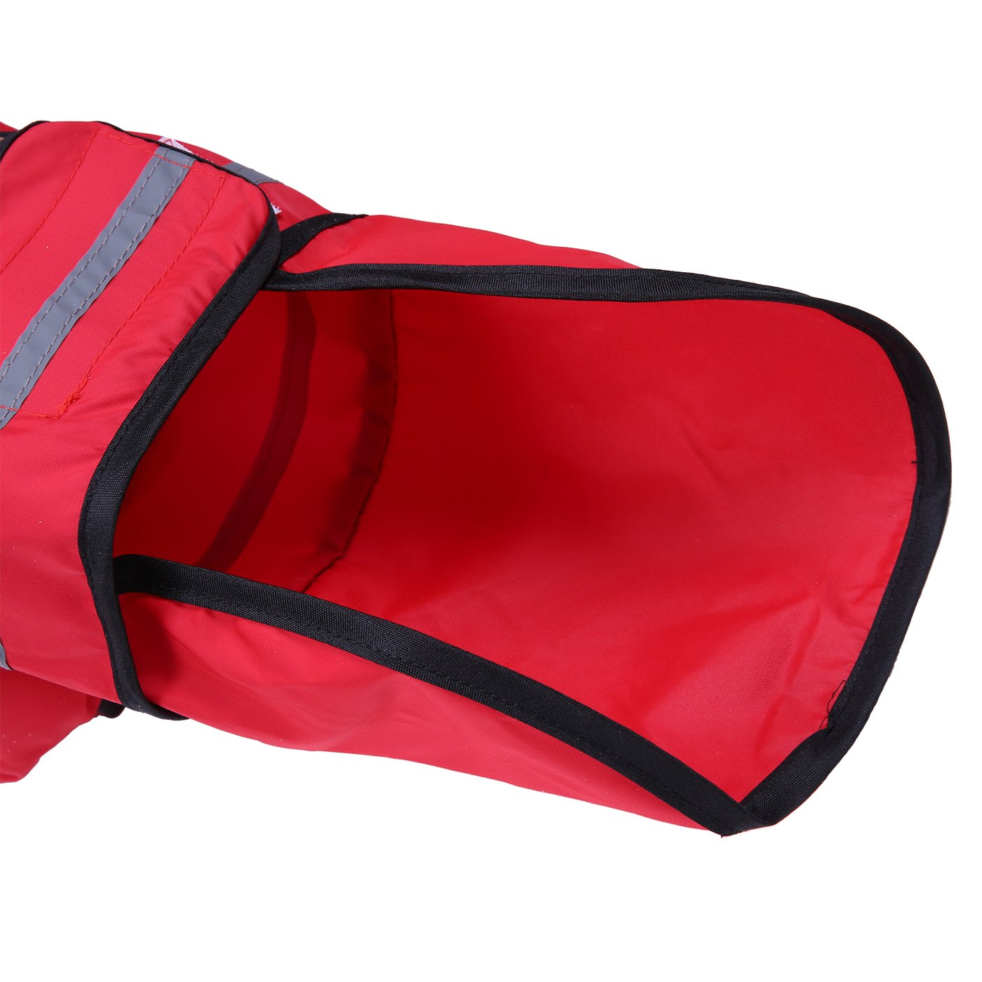 HDE Dog Raincoat Hooded Slicker Poncho for Small to X-Large Dogs and Puppies (Red, Medium) by HDE (Image #6)