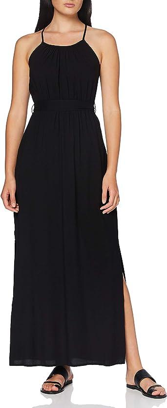 Vero Moda Vmsimply Easy Slit Maxi Dress Wvn Ga Robe Noir Xs Femme Amazon Fr Vetements Et Accessoires