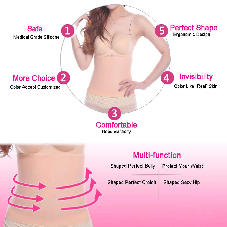 Women's perfect Shaper Waist Waspie Girdle Trim silicone Body-hugging Belt