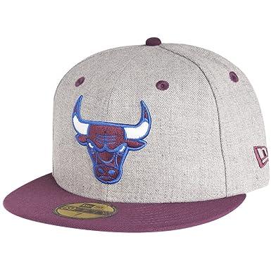 49049f35ada New Era Chicago Bulls NBA Heather Contrast 59fifty 5950 Fitted Cap Basecap  Kappe Men  Amazon.co.uk  Clothing