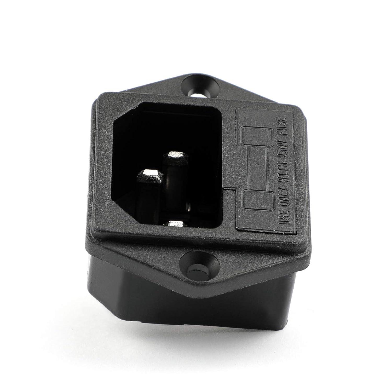 Areyourshop Iec320 C14 3 Pin Male Power Socket W Fuse 10a 250v For Amazoncom Inlet Module Plug Switch Boat Diy Ac 001c2 Industrial Scientific