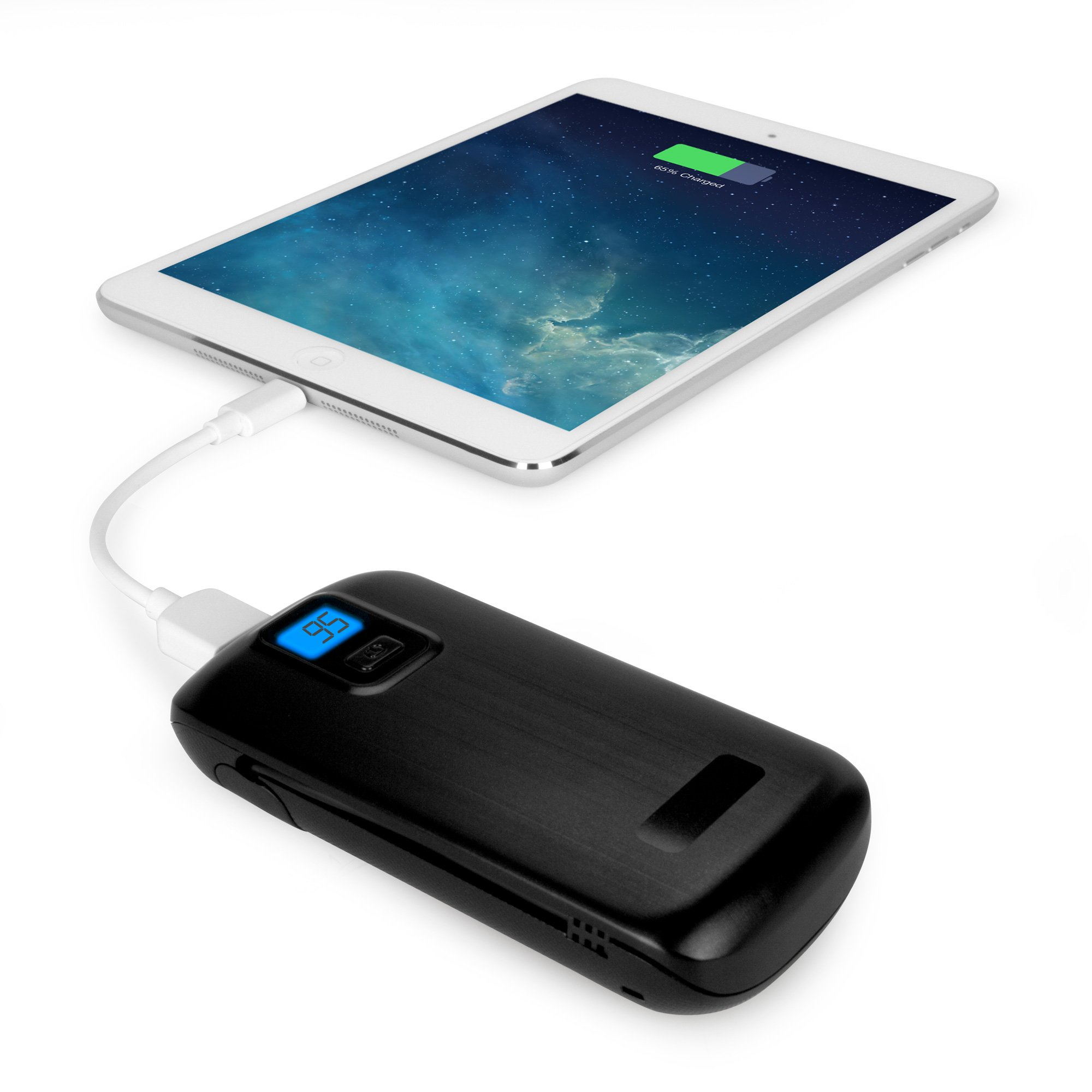 BoxWave Rejuva Power Pack Pro Power Bank - Compact, Portable 4,400 mAh Rechargeable Li-ion Battery Charger and Power Bank - Compatible with Apple iPhone 5, iPhone 6, iPad 3, iPad 4, iPad Air, Samsung Galaxy S4, Galaxy S5, OnePlus One, and many more! (Blac by BoxWave (Image #7)