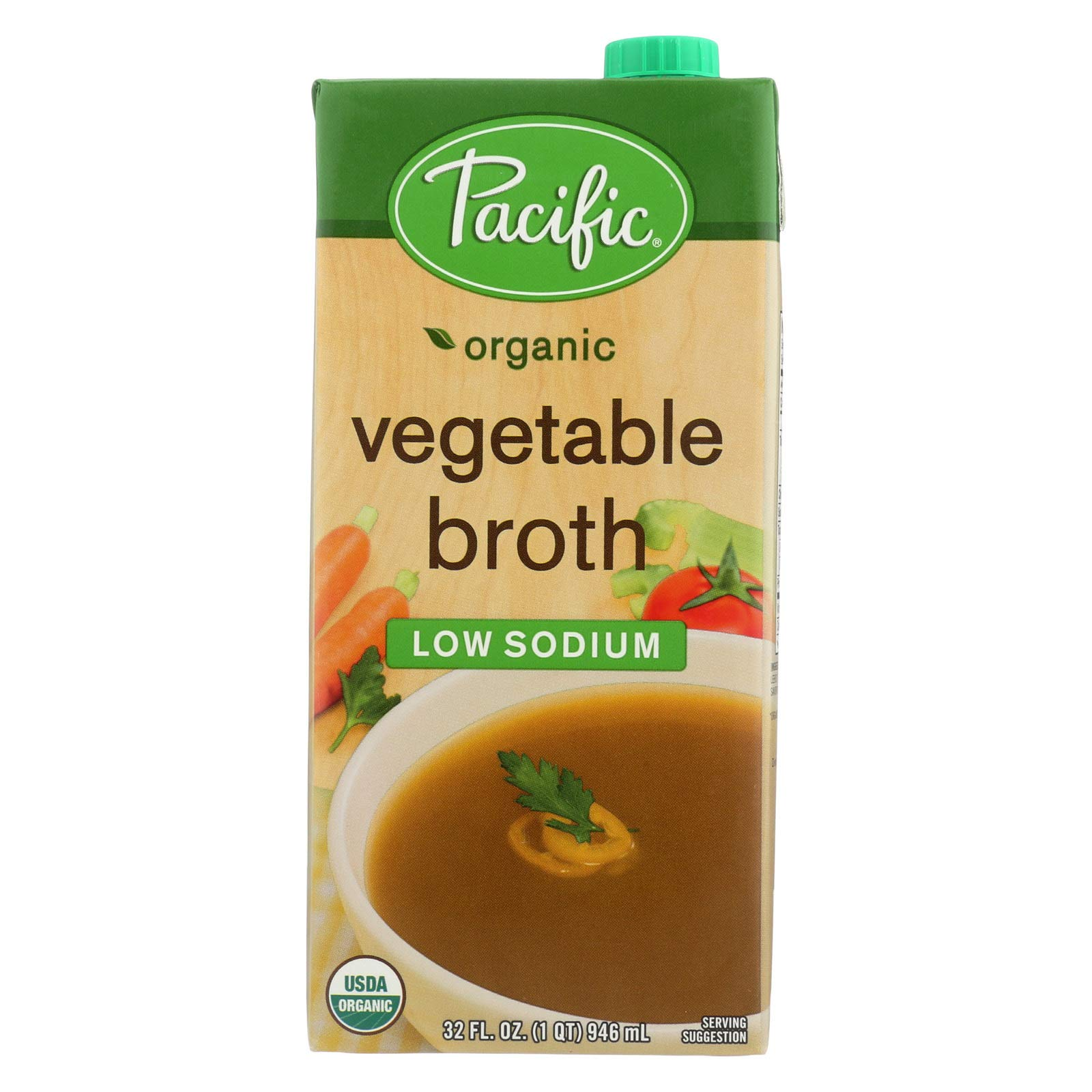 Pacific Natural Organic vegetable Broth Low Sodium (12x32 OZ) by Pacific Natural Foods