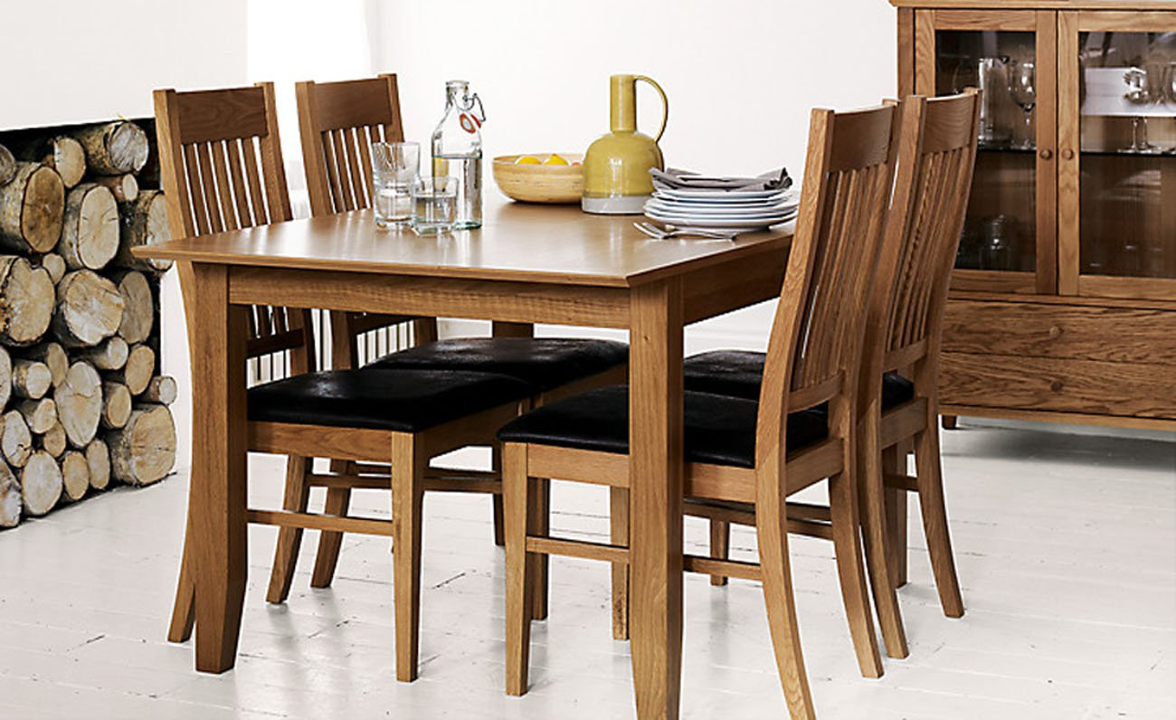 John Lewis Ellis Small Extending Dining Table And 4 Chairs Set Amazoncouk Kitchen Home