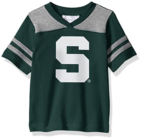 42a570984 Image Unavailable. Image not available for. Color  Two Feet Ahead NCAA  Michigan State Spartans Toddler Boys Football Shirt ...