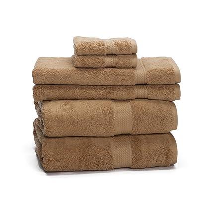 ExceptionalSheets Juego de toallas de 6 unidades de Algodón Egipcio de 900 gramos - Peso Alto