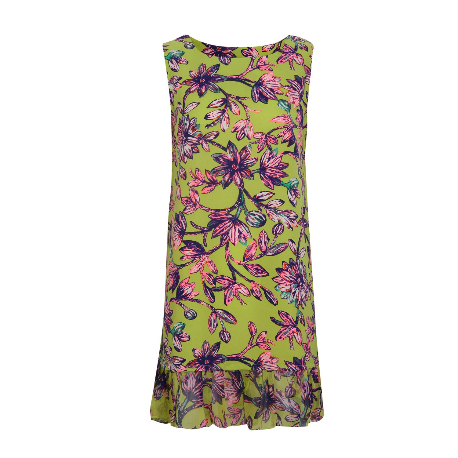 Orion Women's Alda Floral Dress With Ruffles 100% Polyester