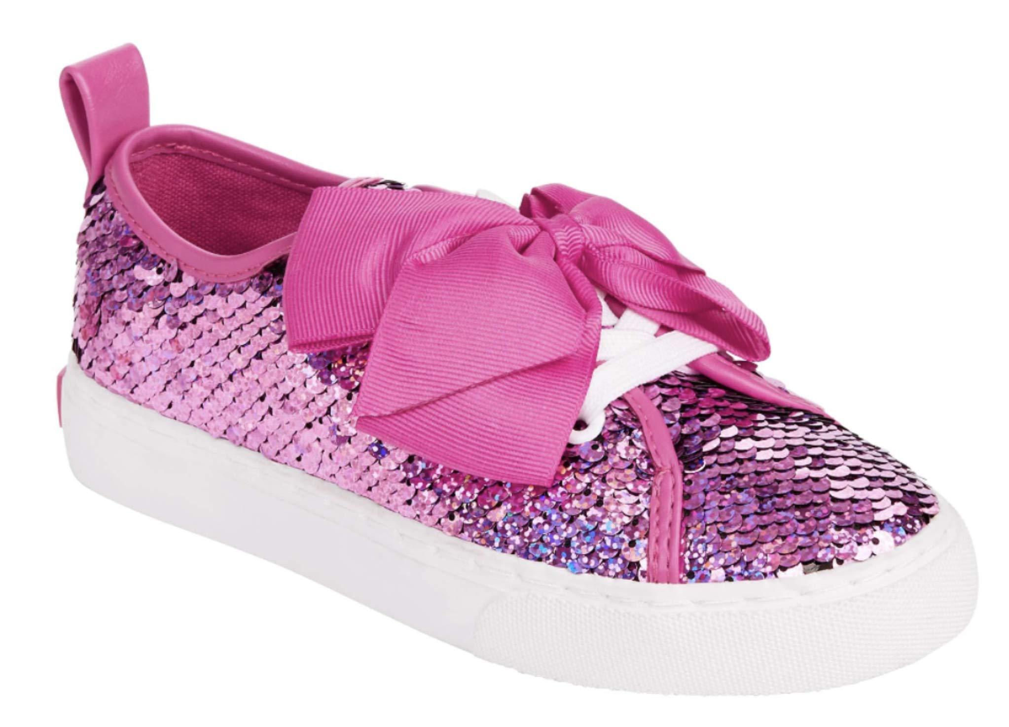 JoJo Siwa Girls Slip On Reversible Sequin Sneakers (12 M US Little Kid, Pink Sequin)