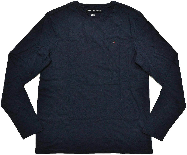 Tommy Hilfiger Mens Long Sleeve Crew Neck T-Shirt