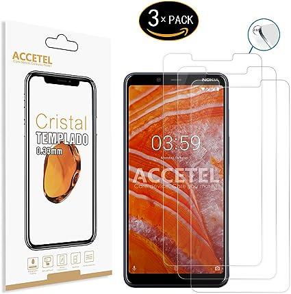 Accetel Protector de Pantalla Compatible con Nokia 3.1 Plus ...