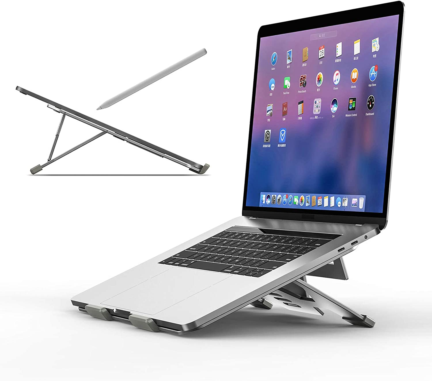 Laptop Stand for Desk - Adjustable Aluminum Drawing Tablet Stand Riser Portable Notebook Holder Stand Compatible with MacBook Air Pro,Wacom,Chromebook,iPad Pro,HP,Dell,Lenovo 10-17