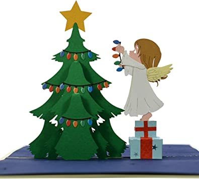 Christmas Fashion 3D Pop Up Holiday Greeting Card Handmade Tree Thanksgiving