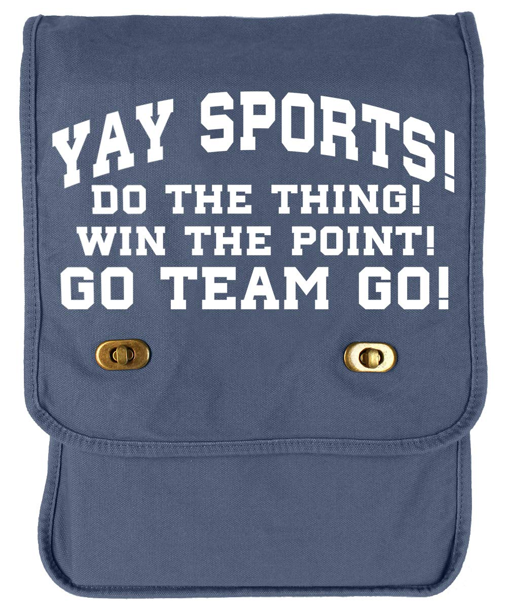 Tenacitee Yay Sports Navy Brushed Canvas Messenger Bag