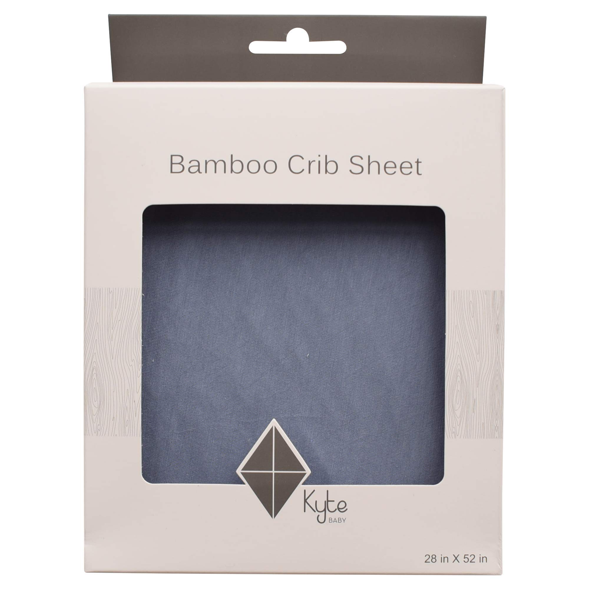 Kyte BABY Soft Crib Sheets Made from Bamboo Rayon Material (Slate) by KYTE BABY