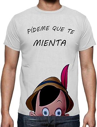The Fan Tee Camiseta de Hombre Divertidas Funny Graciosa Pinocho 017: Amazon.es: Ropa y accesorios
