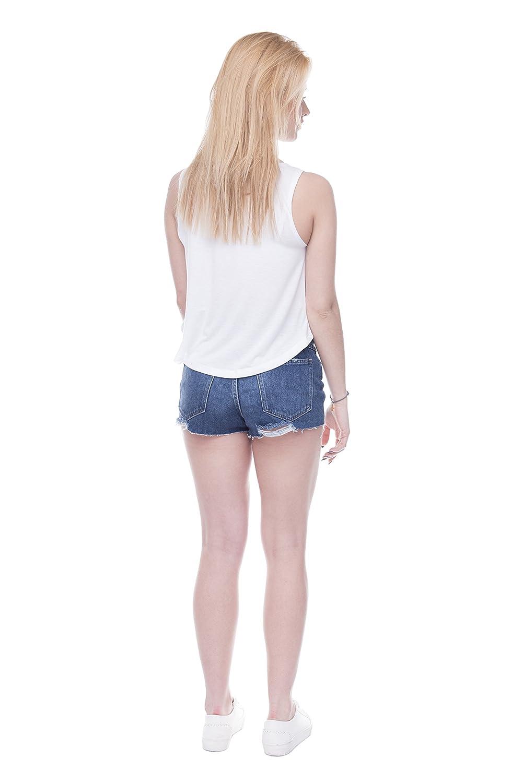 Camiseta corta sin mangas de verano para mujer