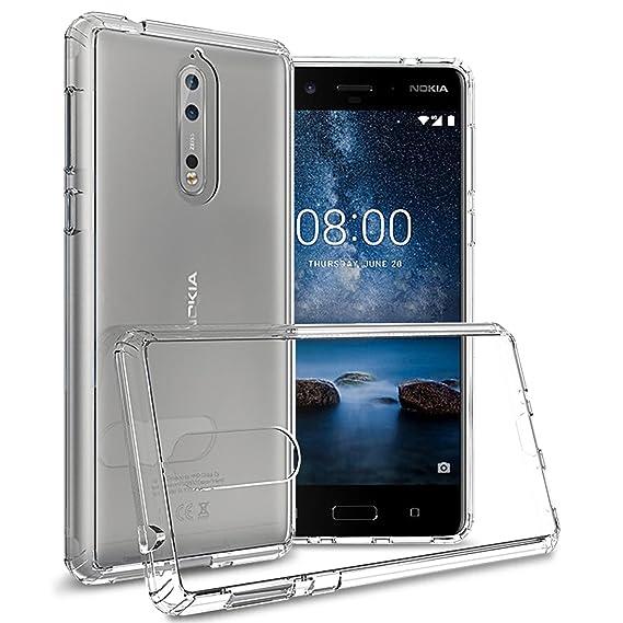 factory price 46ba0 89ac1 Nokia 8 Case, CoverON [Shadow Armor Series] Hard Slim Hybrid Kickstand  Phone Cover Case for Nokia 8 - Gray/Black