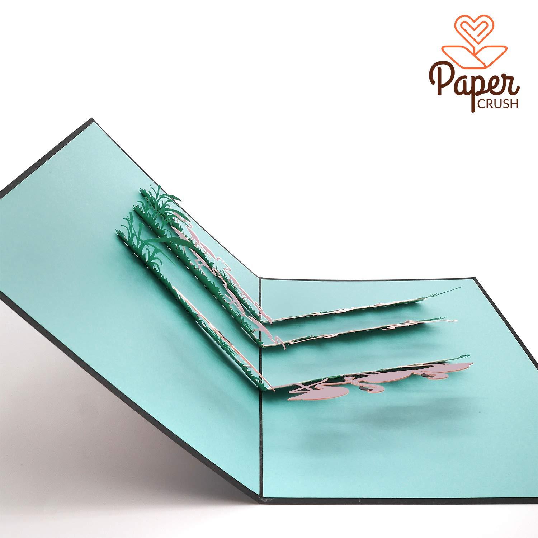 Biglietto pop-up con fenicottero PaperCrush/®