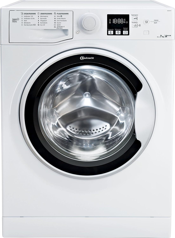 Bauknecht WA Soft 7F4 Waschmaschine Frontlader / A+++ / 1400 UpM / 7 kg / Weiß / langlebiger Motor / Nachlegefunktion / Wasserschutz [Energieklasse A+++]