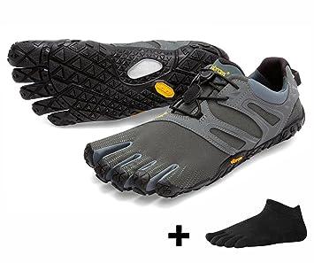a870747744a Vibram FiveFingers V-Trail Ensemble de Chaussures de Course à Pied avec  Chaussons à Orteils