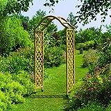 Gardman 07713 Elegance Wooden Garden Arch Pergola Tan Finish Plant Support
