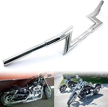 "Drag Handlebar 1/"" Z Bar For Harley Davidson Sportster XL883 XL1200 Softail Dyna"