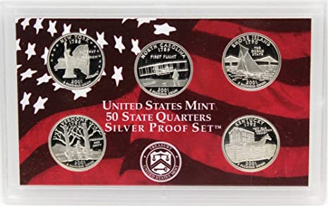 2006 S SILVER Proof State Quarter Set   No Box or Coa   Nice Coins