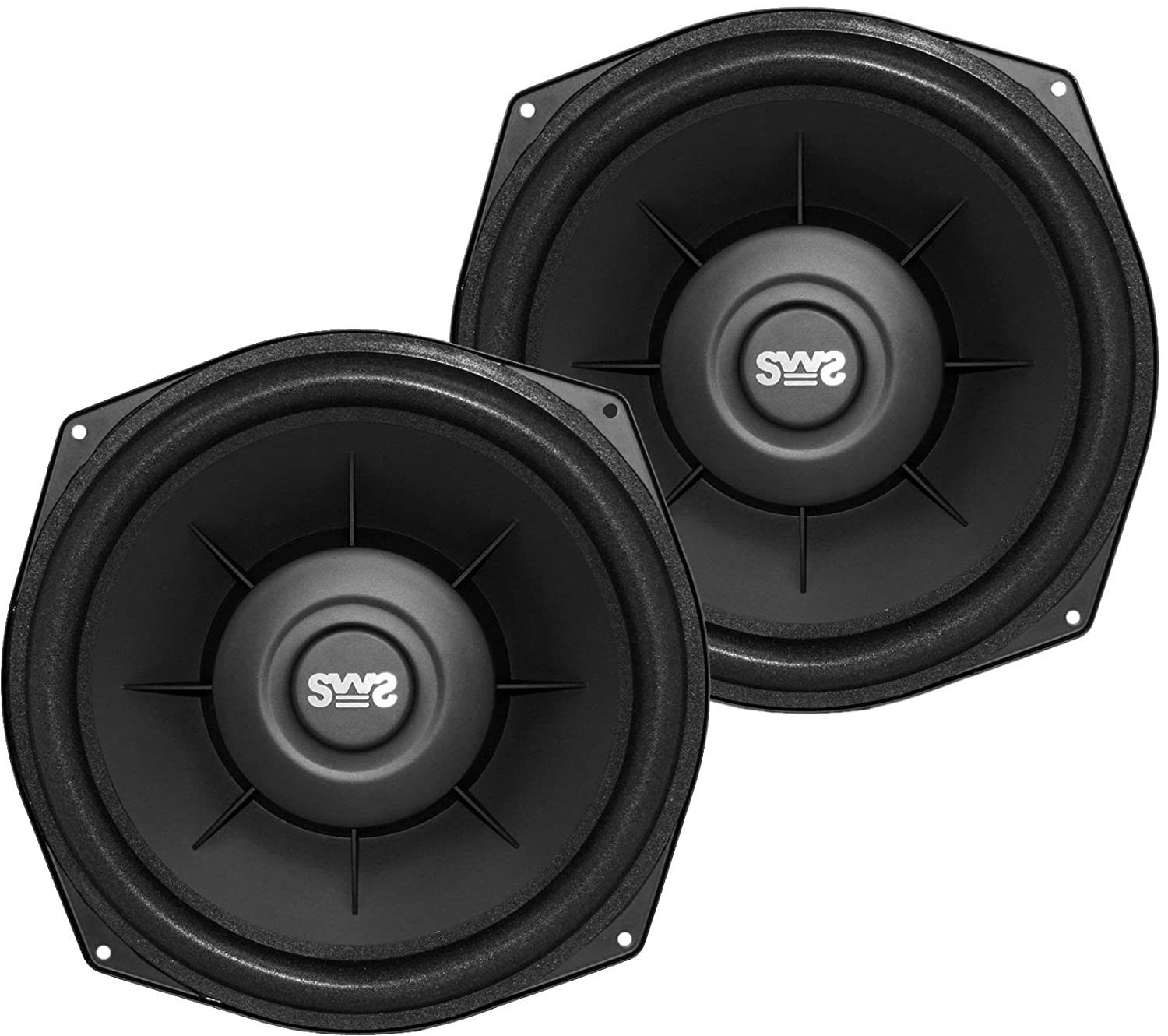 6. Earthquake Sound i82SWS 8-inch Shallow Woofer System Under-the-Seat Subwoofers with Gaskets, 2-Ohm (Pair)