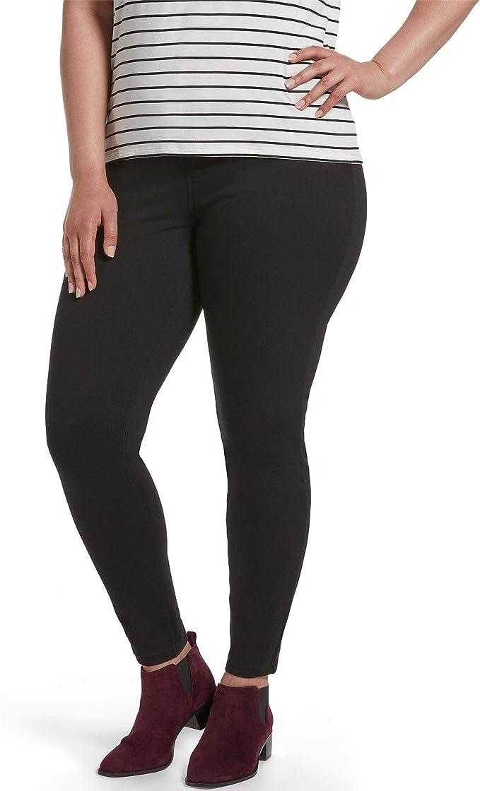 M S XL Hue Legging Femme Fermeture Éclair Brillant Denim Stretch Leggings XS L