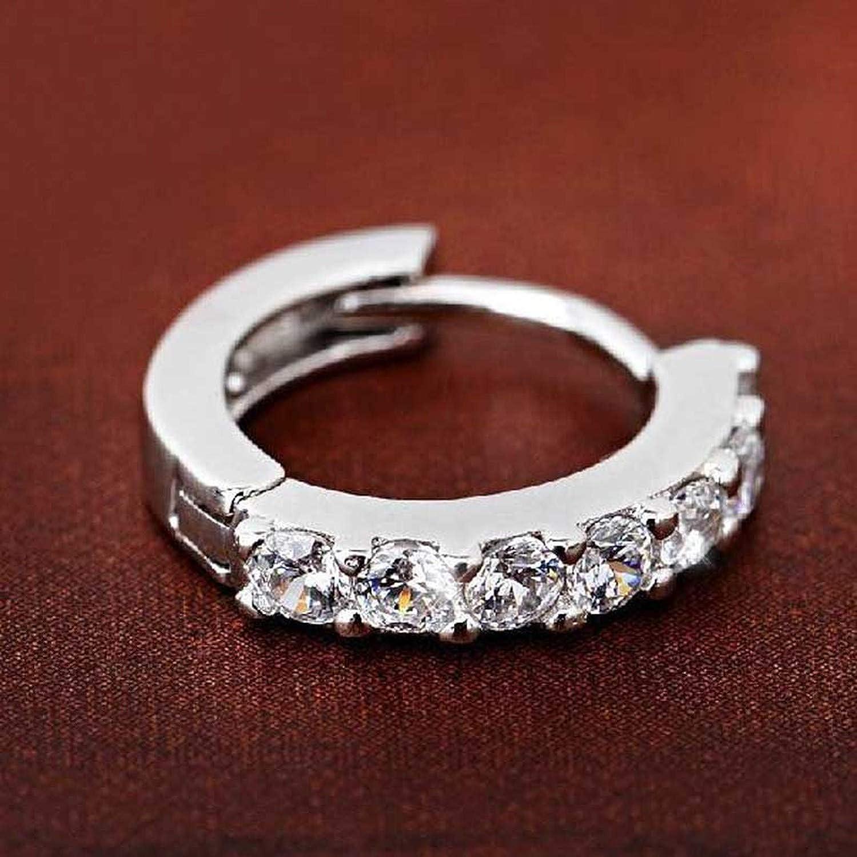 Fashion-LN Stud Earrings Sterling Crystal Row Silver Earrings For Women