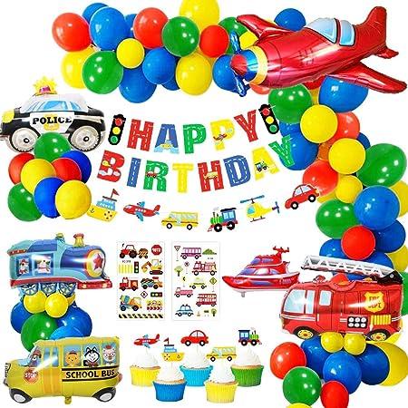 10X À faire soi-même Fête D/'Anniversaire Décoration Ballons transport voiture ballon jouet Kid Fun Cadeau