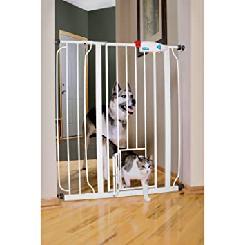 Merveilleux Amazon.com : CARLSON HARDWARE PET GATES 916040 Carls Walk Through Gate With Pet  Door, 42 Inch, Wide : Indoor Safety Gates : Pet Supplies