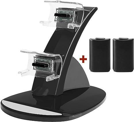 Amazon.com: Cargador controlador Xbox 360, juego de cargador ...