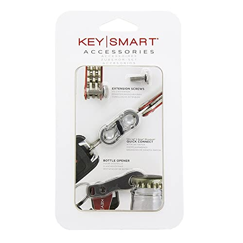 KeySmart Accessory Pack | Expansion Pack-14 Keys, Quick DisConnect, and Bottle Opener
