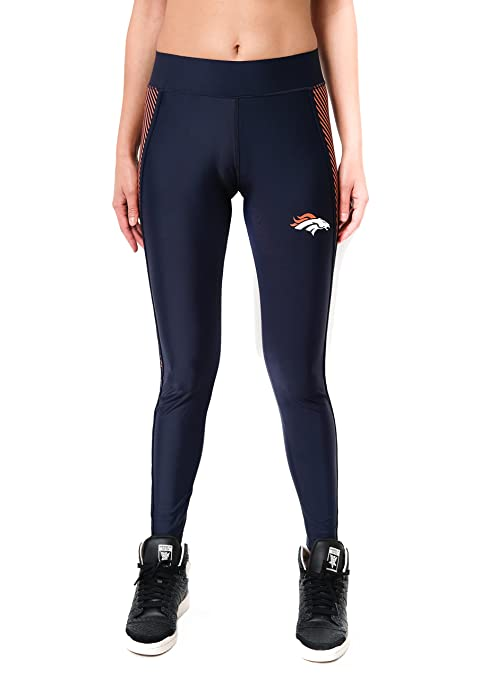 a55ffe8d1fe7c ICER Brands NFL Denver Broncos Women's Leggings Fitness Workout Running Yoga  Pants, Large, ...