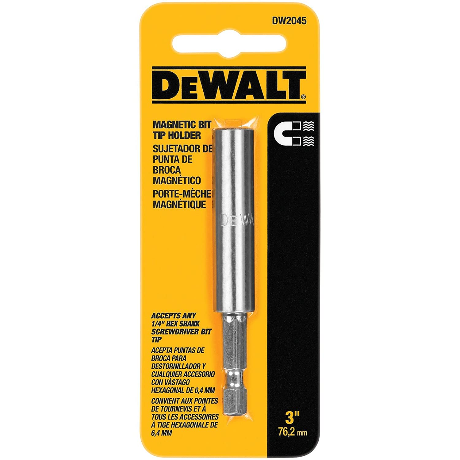 DEWALT DW2045B 3-Inch Magnetic Bit Tip Holder, 50-Pack - Power Drill Accessories - Amazon.com