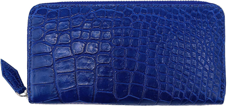 [QUATTRO GATTI クアトロガッティ] クロコダイル ラウンドジップ 長財布 8137 ROYAL BLUE(ロイヤルブルー) B07KJF2BXH  F