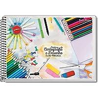 Caderno Desenho Univ Capa Dura 60fls. Espiral - Pacote com 4 Unidade(s) Pauta Branca, Multicor